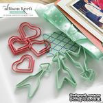 Металлические декоративные скрепки Webster's Pages - Heart and Arrows, 10 штук - ScrapUA.com