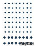 Половинки кристаллов Want2Scrap - Rhinestones - Baby Blue, 72 штуки - ScrapUA.com