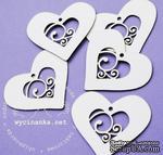 Чипборд от  Wycinanka  - Сердечки, 5x5,7 см, 5 шт. - ScrapUA.com