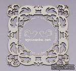 Чипборд от  Wycinanka  - Квадратная рамка, 9,3x9,3 см, - ScrapUA.com