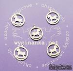 Чипборд от  Wycinanka  - Медальоны  с лошадкой, 3,5x4 см, 5 шт. - ScrapUA.com