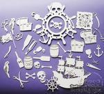 Чипборд от Wycinanka - Пиратский набор большой - AJEMNICZA WYSPA SKARBOW -zestaw - ScrapUA.com