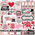 Набор наклеек Yours Truly El. Stickers - ScrapUA.com