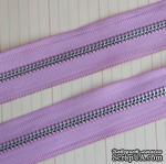 Тесьма с молнией Zipper Trim - Lilac Pink, цвет сиреневый, ширина 13 мм, длина 90 см - ScrapUA.com