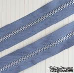 Тесьма с молнией Zipper Trim - Earl Grey, цвет серый, ширина 13 мм, длина 90 см - ScrapUA.com