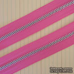 Тесьма с молнией Zipper Trim - Bubblegum Pink, цвет розовый, ширина 13 мм, длина 90 см - ScrapUA.com