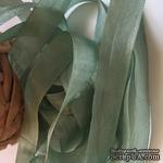 Лента Seam Binding Metal Green, ширина 14мм, длина 90см - ScrapUA.com