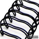 Спираль для биндера Zutter - Bind-It-All - цвет черный, 19 мм, 6 штук - ScrapUA.com
