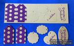 """Набор тэгов из плотного крафт-картона с принтом """"Горохи"""", толщина 1,3мм, 12 штук - ScrapUA.com"""