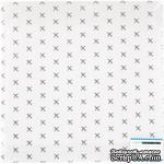 """Прозрачный ацетатный лист с серебряным фольгированием от Polkadot """"Аэропорт"""" - ScrapUA.com"""
