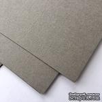 Дизайнерский картон с фактурой льна Sirio tela pietra, 30х30 см,  серый, 290 г/м2, 1 шт - ScrapUA.com