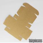 Коробочка упаковочная, крафт-картон, 7,2*7,2*2,7 см, 1 щт. - ScrapUA.com