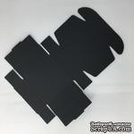Коробочка упаковочная, черный картон, 7,2*7,2*2,7 см, 1 шт. - ScrapUA.com