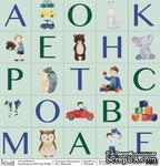 """Лист бумаги для скрапбукинга от Polkadot - """"Карточки"""" из коллекции """"Мальчишки"""" - ScrapUA.com"""