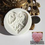 Силиконовая форма (молд) - Сердце, размер: 55х48 мм, высота 8 мм - ScrapUA.com