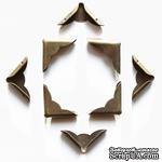 Набор металлических уголков, волнистых, 23х23х5 мм, 4 шт. - ScrapUA.com