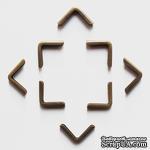 Набор металлических уголков, закругленных, 16х16х2 мм, 4 шт - ScrapUA.com