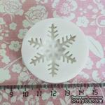 Силиконовая форма (молд) - Снежинка средняя, размер: 37 мм - ScrapUA.com