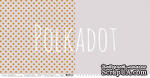 """Лист двусторонней бумаги для скрапбукинга от Polkadot - """"Французский серый"""" из коллекции """"В горошек"""" - ScrapUA.com"""
