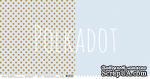 """Лист двусторонней бумаги для скрапбукинга от Polkadot - """"Небесный"""" из коллекции """"В горошек"""" - ScrapUA.com"""