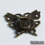 Замочек-бабочка металлический, 52х45мм, 2 детали - ScrapUA.com