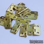 Петля маленькая, 16х13мм, цвет золото, 1 деталь - ScrapUA.com