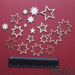 Чипборд от Вензелик - Набор звездочек, размер чипборда: від 16*17 до 55*55 мм - ScrapUA.com