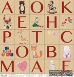 """Лист бумаги для скрапбукинга от Polkadot - """"Карточки"""" из коллекции """"Девчонки"""" - ScrapUA.com"""