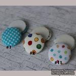 Тканевые топсы от  Allmacraft - серия Горохи, диаметр 2,5 см, 2 штуки - ScrapUA.com