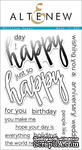 "Набор штампов от Altenew - Halftone Happy - Надписи ""Happy"" - ScrapUA.com"