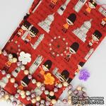 Хлопок, Гвардейцы Королевы, бордовый фон,45х55 см - ScrapUA.com
