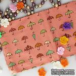 Хлопок, Зонтики на розовом фоне, 45х55 см - ScrapUA.com