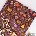 Хлопок фоновый, Растительные элементы, фиолетовые крупные, 45х55 см - ScrapUA.com
