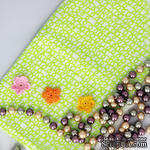 Хлопок фоновый, Каракули зеленые, 45х55 см - ScrapUA.com