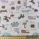 Хлопок, детки и животные на белом фоне, 50х40см - ScrapUA.com