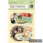 """Наклейки на подушечках от K&Company """"Французский винтаж"""" - ScrapUA.com"""