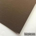 Картон с тиснением под кожу, цвет коричневый, 300гр/м2, 30х30см - ScrapUA.com