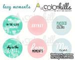 Набор фишек (значков) от Color Hills - Lazy moments, 6 шт, 25 мм - ScrapUA.com