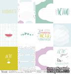 Карточки - Мятное лето, односторонняя бумага, размер 30,5х30,5 см, плотность 190 гр\м2 - ScrapUA.com