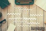 """Чипборд от TM """"Черешня"""" - Down street, дизайн: Ирина Музалевская - Шевроны, 18х12 см - ScrapUA.com"""