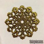 """Металлическое украшение """"Винтажный круг"""", диаметр 60мм, античная бронза, 1 шт.с - ScrapUA.com"""