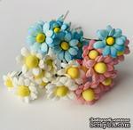 Ромашки мелкие, цвет на выбор, диаметр 10 мм, 5 шт. - ScrapUA.com