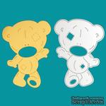 Нож для вырубки - мишка Teddy с заплатками,  9.5 х 6.8 см, 1 шт. - ScrapUA.com