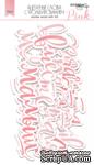 Ацетатные высеченные слова c фольгированием (розовые) 12шт от Scrapmir - ScrapUA.com