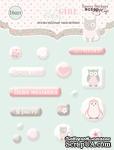 Набор эпоксидных наклеек от Scrapmir - Baby Girl, 16 шт. - ScrapUA.com