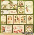 """Лист односторонней бумаги для скрапбукинга от Scrapmir - Открытки -коллекция """"Christmas Night"""", 30x30 см - ScrapUA.com"""