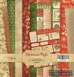 Набор односторонней бумаги 20х20см от Scrapmir Christmas Night 12шт - ScrapUA.com