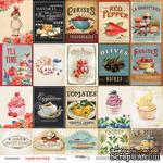 Лист двусторонней бумаги от Scrapmir - Карточки -  Sugar and Spice, 20х20см - ScrapUA.com