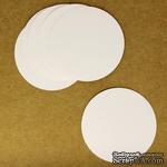 """Тег """"Круг"""" из белого картона, 8 см, 1 шт. - ScrapUA.com"""
