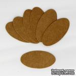 """Тег """"Овал"""" из крафт-картона, 6,5х3,3 см, 1 шт. - ScrapUA.com"""